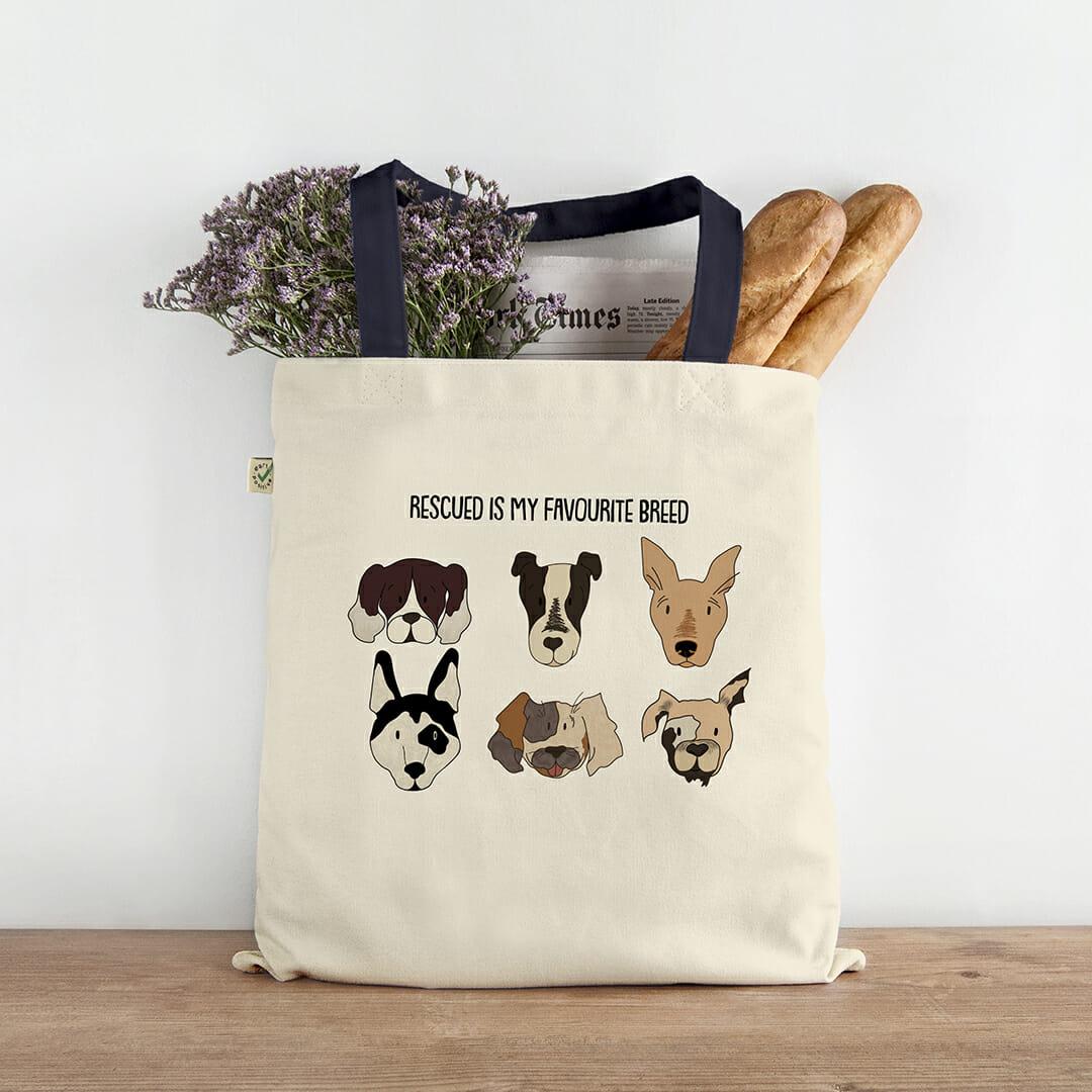 Rescue Dogs Tote Bag