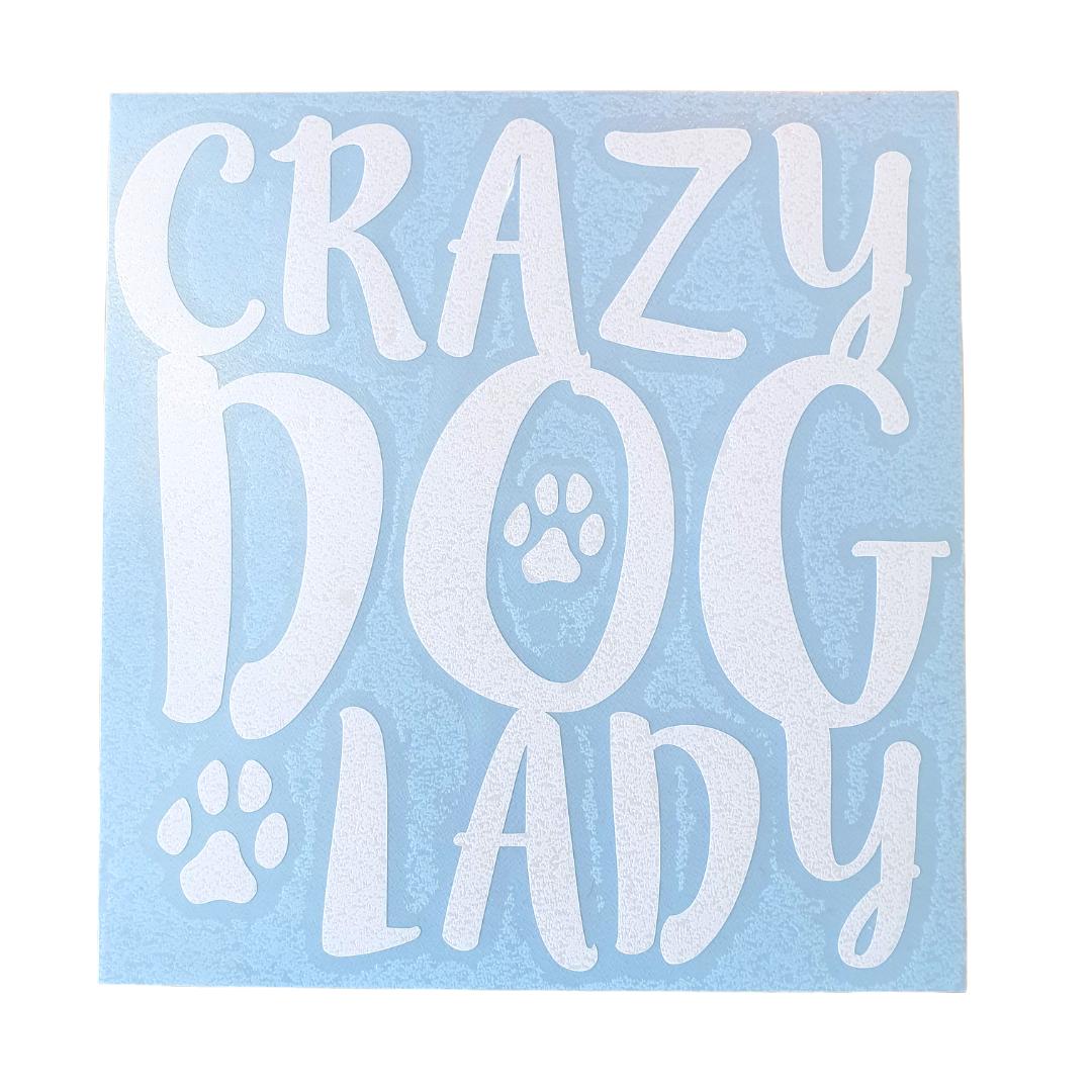 Crazy Dog Lady Car Decal