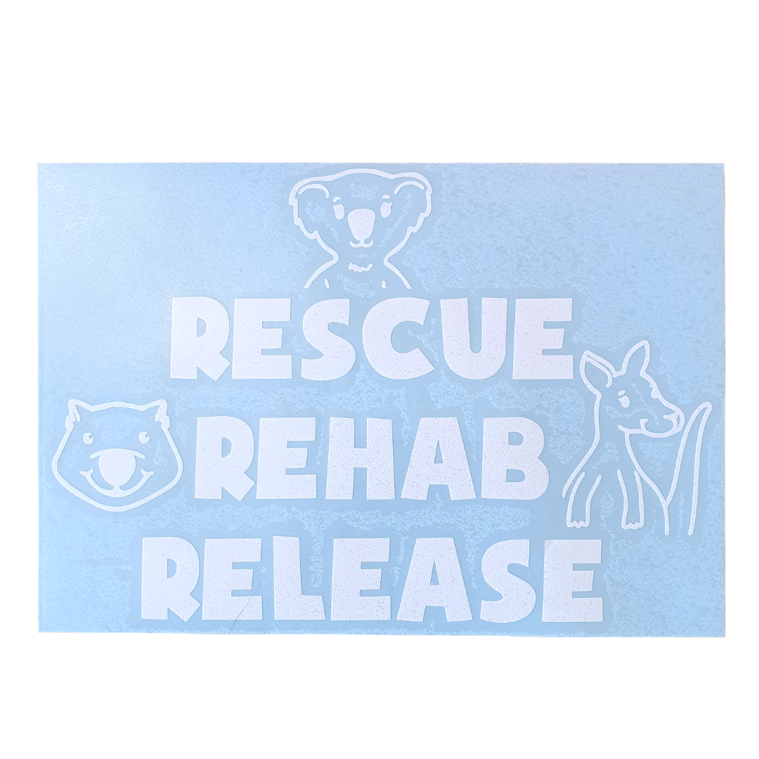 Rescue Rehab Release Car Decal