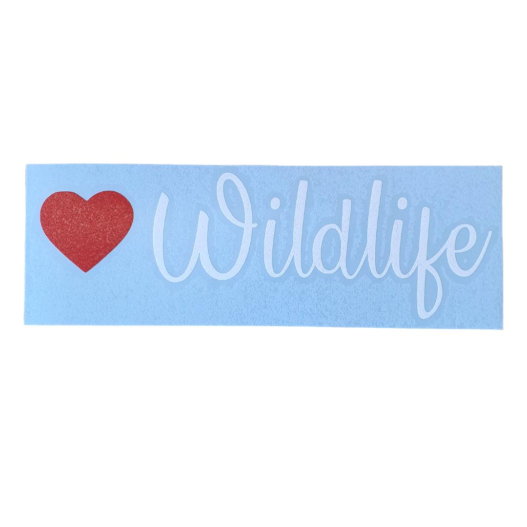 Love Wildlife Car Decal